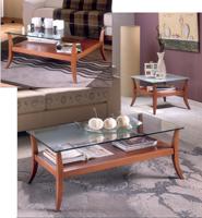 Mesas de centro Domus D500 o D510 o D520 - Mesas de centro Domus D500 o D510 o D520, fabricado en madera maciza y cristal.