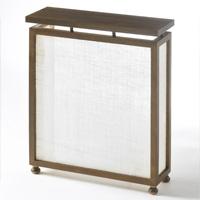 Cubreradiador de madera y tela. - Cubreradiador de madera y tela.