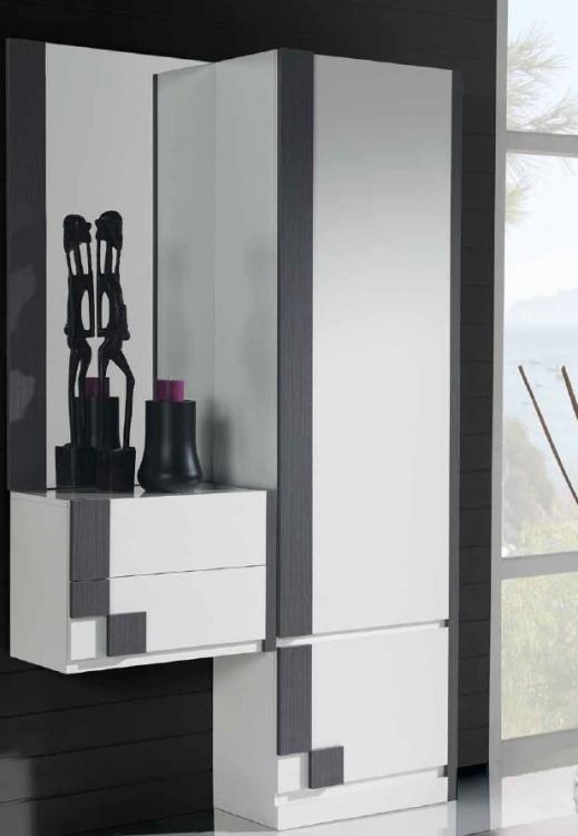 Espejo zapatero moderno cantabria for Armario alto zapatero con espejo