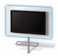 Panel de pared para TV con luz