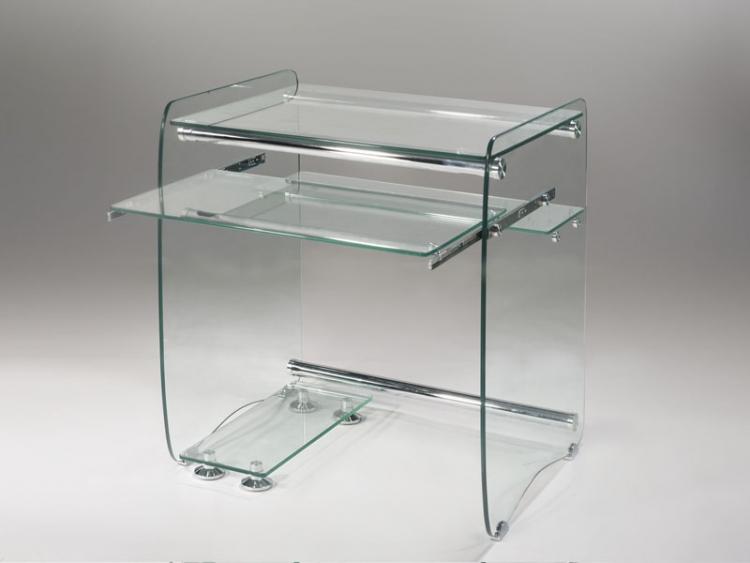 Mesa de cristal oficina para ordenadores computadoras for Ordenadores de mesa precios