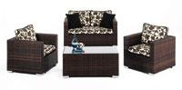 Set de sofá de exterior 2 plazas y dos sillones, mesa
