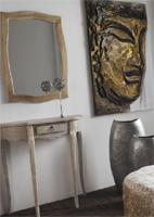 Consola o espejo madera natural decapada 2