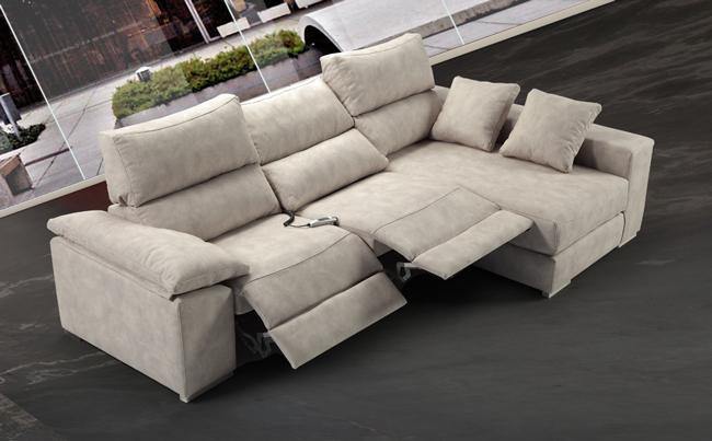 Mia home oferta en sof con chaiselong deslizantes el ctricos for Sofas 4 plazas reclinables