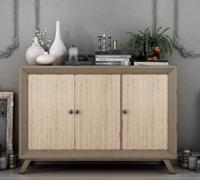 Aparador Vintage AP103 - Aparador 3 puertas Vintage, fabricado en madera de alta calidad, excelentes detalles.
