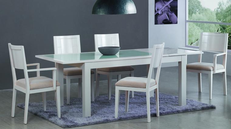 comedor blanco lacado Mesas de comedor, Muebles de comedor ...