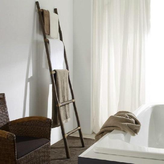 Colgador de toalla de bamboo muebles de interior muebles for Colgador toalla bano