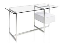 Mesa escritorio lacado y cristal