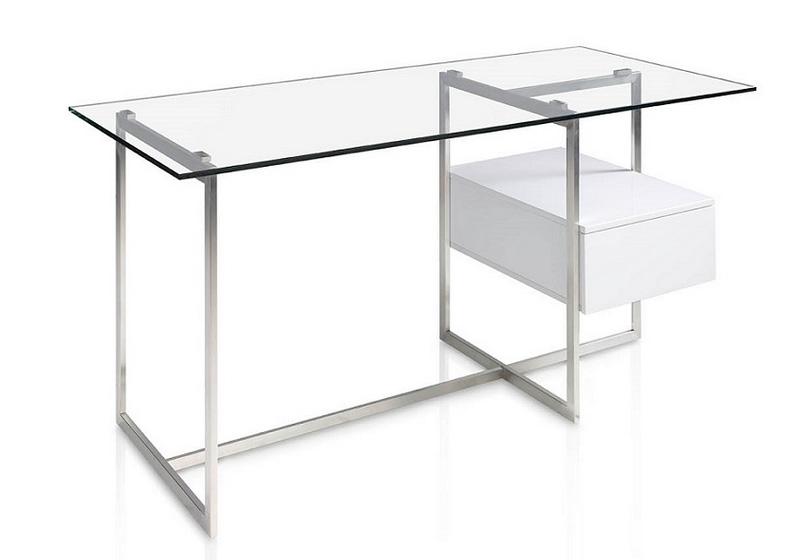 Mesa comedor acero y cristal car interior design - Mesa escritorio cristal ikea ...