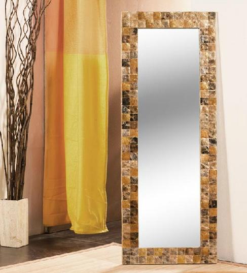 Espejo de apariencia piedra for Espejos rectangulares para comedor
