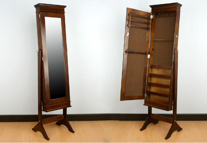 Espejo de pie joyero 2 dormitorios muebles de interior for Espejo de pie plateado