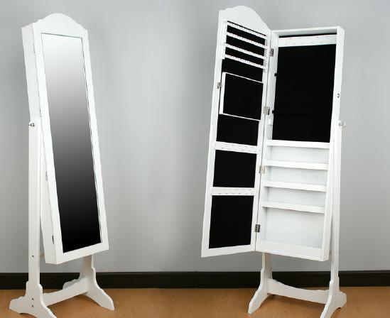Espejo de pie joyero 3 dormitorios muebles de interior for Espejo pie blanco