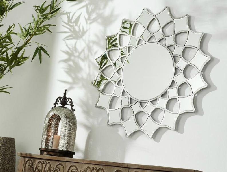 Espejo cuadrado decorativo for Espejos de pared redondos