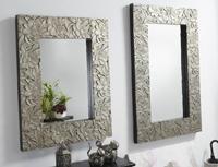 Consola blanco decapado-plata y/o espejo