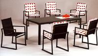 Set sillas y mesa estructura aluminio modelo EYRE