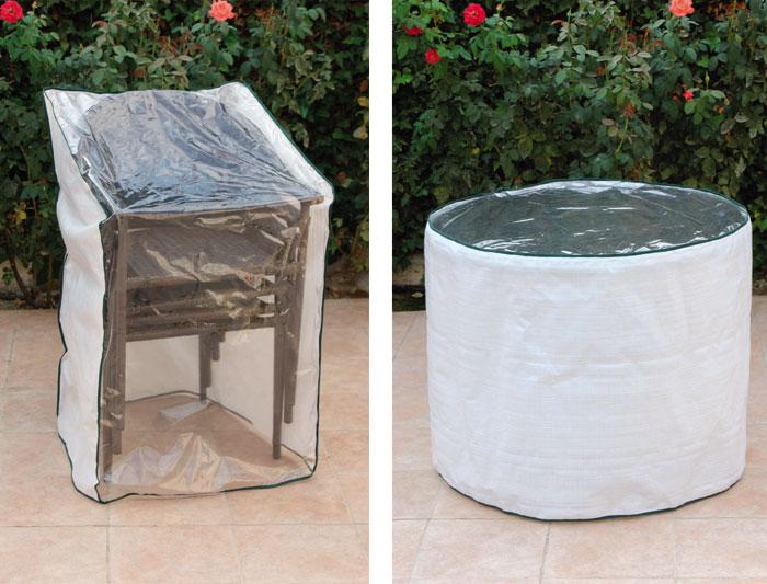 Mesa redonda de jard n modelo marina y sillones mesas de - Fundas mesa jardin ...