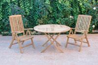 Set sillas y mesa madera modelo GANTE