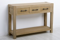 Consola con tres cajones - Consola de madera con tres cajones