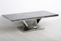 Mesa de centro m�rmol negro - Mesa de centro de acero inoxidable con m�rmol negro