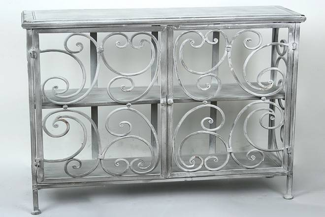 consola gris de forja Consolas y entradas, Muebles de comedor ...