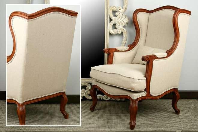 Sillón clásico tapizado madera tallada muebles de interior ...