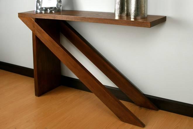 Consola de madera diseño moderno - Moderna y decorativa
