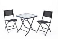 Set sillas y mesa de acero modelo GARBY