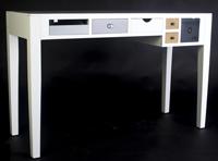 ESCRITORIO ESTILO VINTAGE  - ESCRITORIO ESTILO VINTAGE color blanco concajones colores en madera de pino y MDF.
