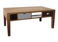 Mesa de centro de madera - Acabado multicolor