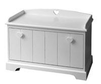 Ba�l de madera - Acabado en color blanco