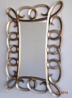 Espejo rectangular marco espirales acabado oro