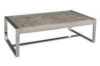 Mesa de centro acero inoxidable 3 - Disponible en modelo rectangular y cuadrado