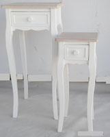 Set 2 pedestales de madera 1 - Acabado bicolor