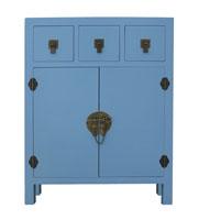 Recibidor de madera 3 - Acabado azul o malva