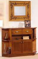 Recibidor fabricado en madera de pino 1 - Fabricado en madera de pino y tintado en varios colores.