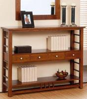Recibidor fabricado en madera de pino 3 - Fabricado en madera de pino y tintado en varios colores.
