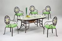 Set sillas y mesa mosaico modelo GIRASOLES