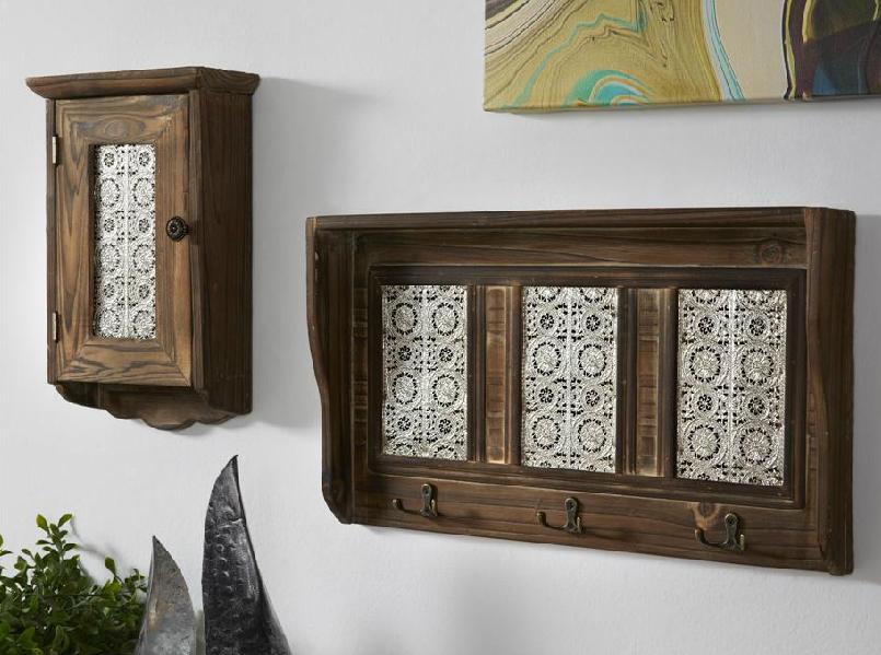 Guardallaves madera mueble de pared para colgar llaves - Recambio tela parasol ...