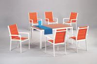 Set sillas y mesa estructura aluminio modelo HARAL