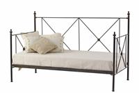 Sof� cama de forja con decorado de aspas