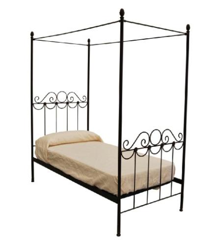 Cama flor 90 con dosel estructura forja - Estructura dosel cama ...