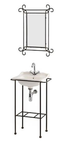 Espejo y lavabo Vichy forja - Espejo y mueble lavabo modelo Vichy