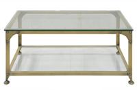 Mesa centro y mesa rincon industrial - Sobre de cristal