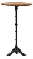 Velador alto - Estructura de hierro tapa de madera