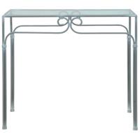 Consola decorado caracol - Estructura de hierro sobre de cristal