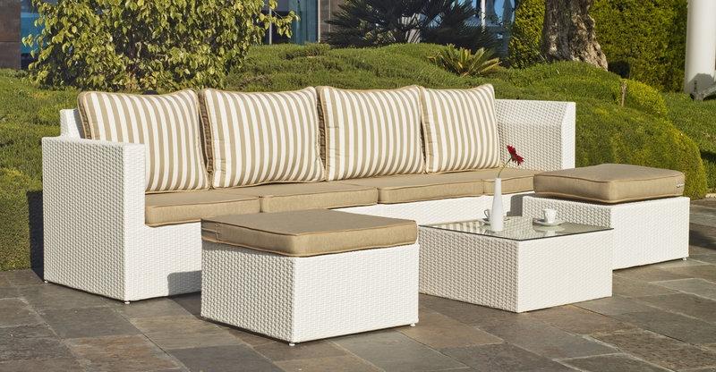 Juego modular sof s rattan exteriores 6 sets modulares - Muebles rattan jardin ...