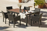 Conjunto comedor para exteriores 11