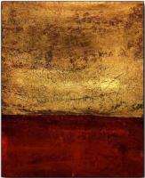 Cuadro abstracto en tonos ocres