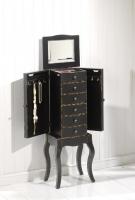 Joyero con patas negro - Mueble fabricado en madera y lacado en negro roto.