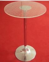 Mesa bar transparente - Mesa metacrilato redonda